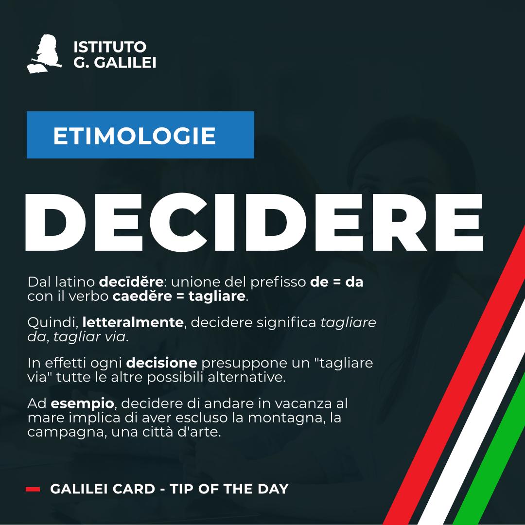 ISTITUTO GALILEI CARDS: DECIDERE