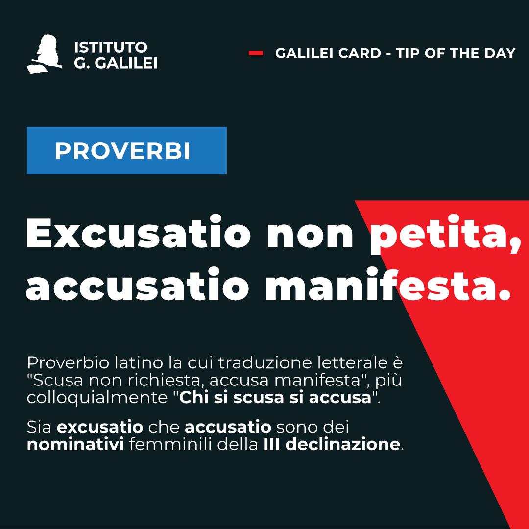 ISTITUTO GALILEI TORINA EXCUSATIO NON PETITA ACCUSATIO MANIFESTA