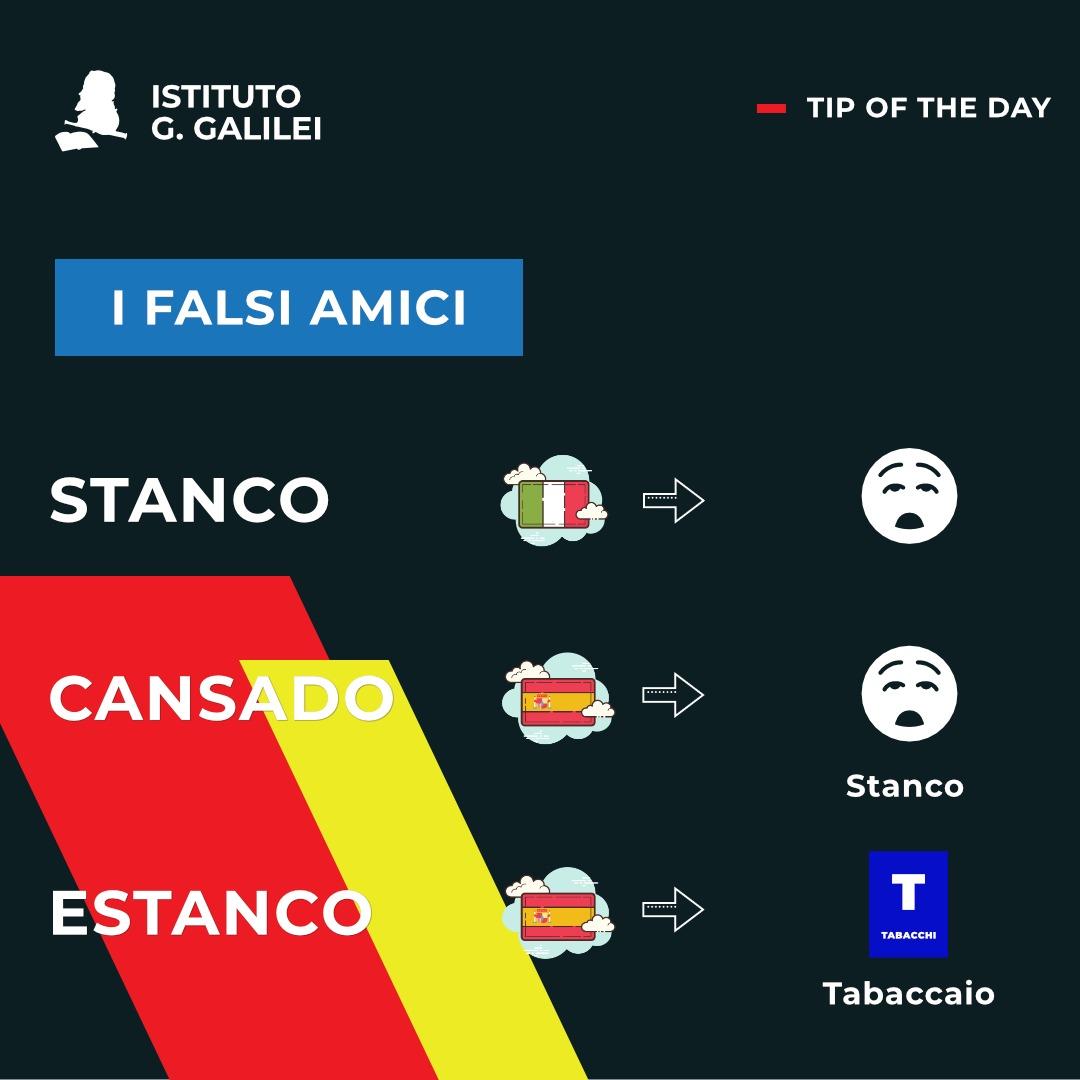 ISTITUTO GALILEI CARDS FALSOS AMIGOS CANSADO