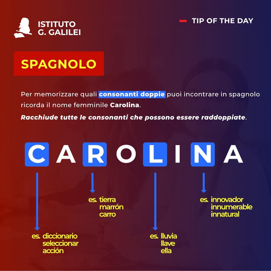 ISTITUTO GALILEI CARDS SPAGNOLO CAROLINA
